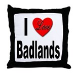 I Love Badlands Throw Pillow