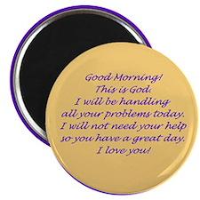 """Good Morning from God 2.25"""" Magnet (100 pack)"""