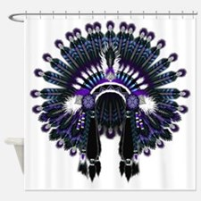 Native War Bonnet 04 Shower Curtain