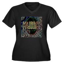 majorca Women's Plus Size V-Neck Dark T-Shirt