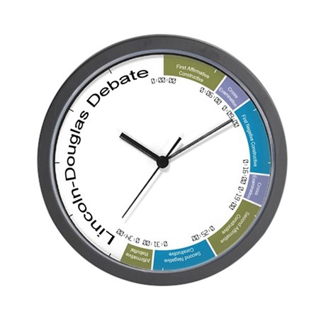 NFA Lincoln-Douglas Debate - Wall Clock