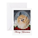 Pomeranian xmas Greeting Cards