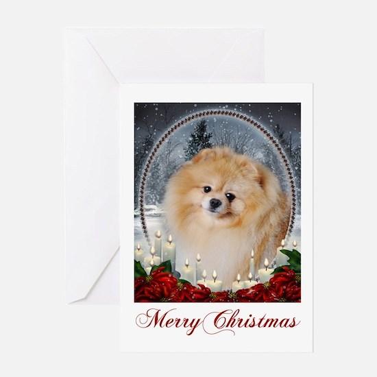 Pomeranian Xmas Card