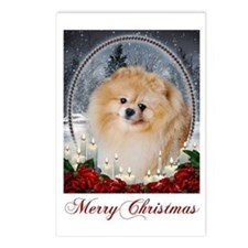 Pomeranian Xmas Postcards (Package of 8)
