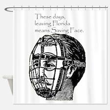 Saving Face in Florida Shower Curtain
