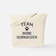 Team Mini Schnauzer Tote Bag