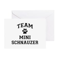 Team Mini Schnauzer Greeting Card