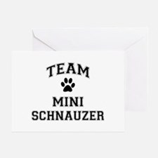 Team Mini Schnauzer Greeting Card