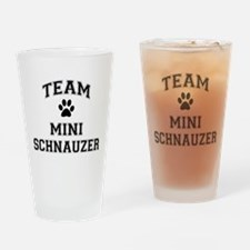 Team Mini Schnauzer Drinking Glass