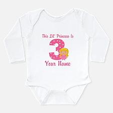 3rd Birthday Princess 2 Long Sleeve Infant Bodysui