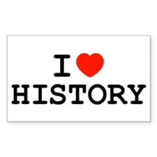 I Heart History Rectangle Decal