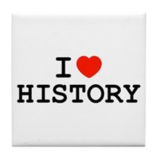 I Heart History Tile Coaster