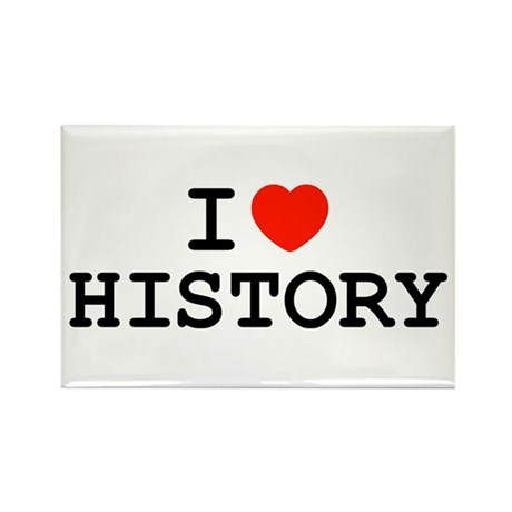 I Heart History Rectangle Magnet (10 pack)