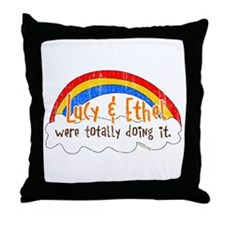 Lucy & Ethel Were Doing It Throw Pillow