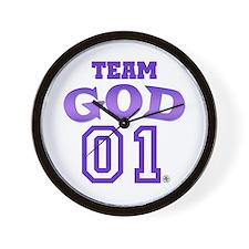Team God Wall Clock