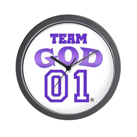 Team God Wall Clock