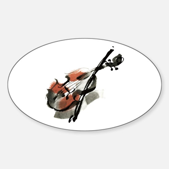 Violin Sticker (Oval)