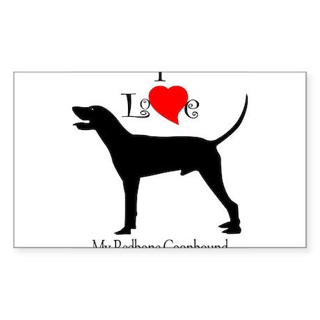 Redbone Coonhound Rectangle Sticker
