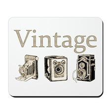 Vintage-Tan and Black Mousepad