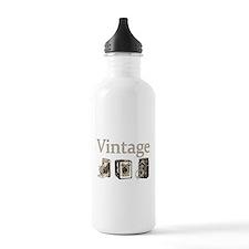 Vintage-Tan and Black Water Bottle