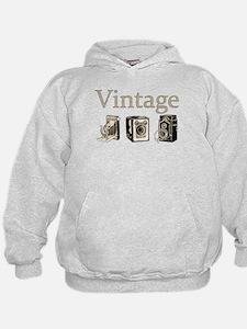 Vintage-Tan and Black Hoodie