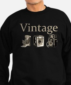 Vintage-Tan and Black Sweatshirt (dark)