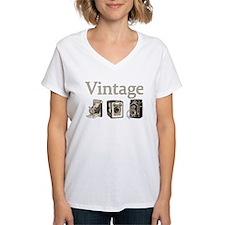 Vintage-Tan and Black Shirt