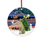 Xmas Magic & Sloughi Ornament (Round)