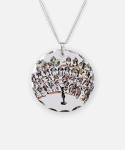 Orchestra Necklace Circle Charm