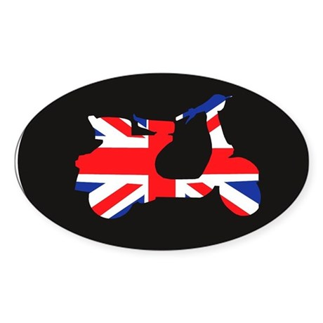 uk mod scooter Oval Sticker