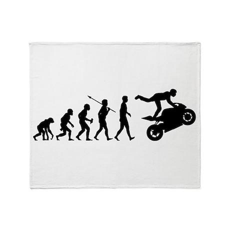 Stunt Riding Throw Blanket