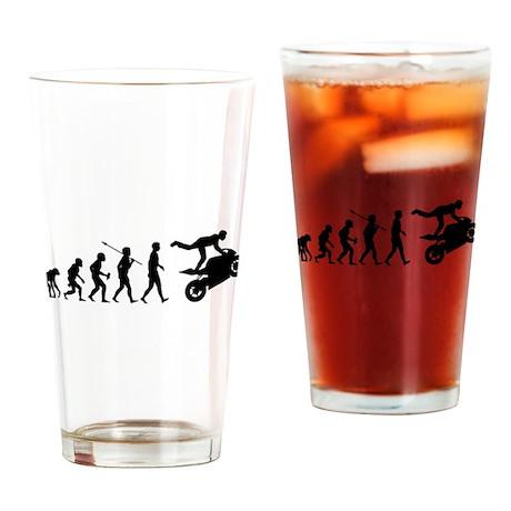 Stunt Riding Drinking Glass