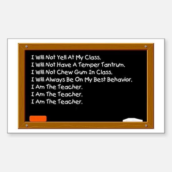 I Am The Teacher Rectangle Decal