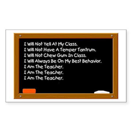 I Am The Teacher Rectangle Sticker