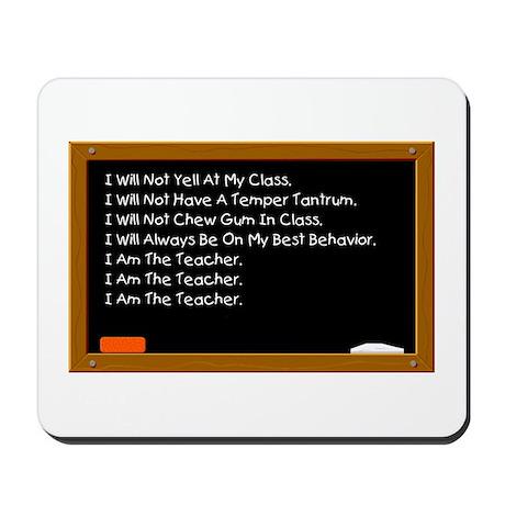I Am The Teacher Mousepad