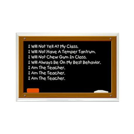 I Am The Teacher Rectangle Magnet (10 pack)