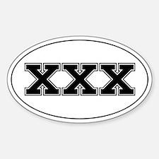 XXX Decal
