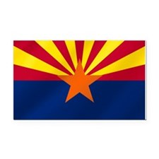 Flag of Arizona Rectangle Car Magnet