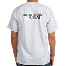 Men Shalt Play Golf Often Ash Grey T-Shirt
