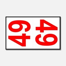 49 Autocross Number Plates Car Magnet 20 x 12