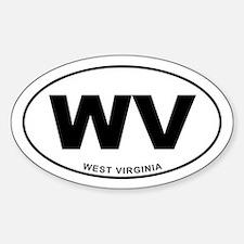 West Virginia State Sticker (Oval)