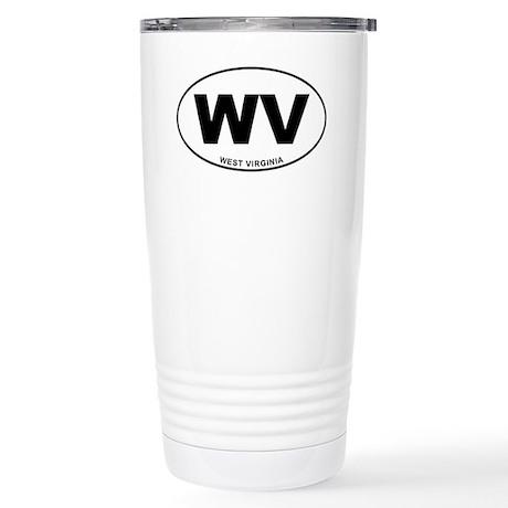 West Virginia State Stainless Steel Travel Mug