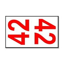 42 Autocross Number Plates Car Magnet 20 x 12