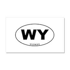 Wyoming State Car Magnet 20 x 12