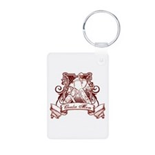 Hockey Goalie Mom Aluminum Photo Keychain