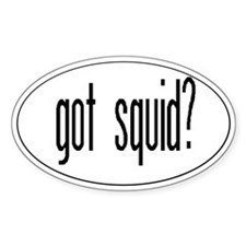 got squid? Oval Decal