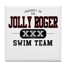 Jolly Roger Swim Team Tile Coaster