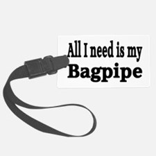 Unique Pipe band Luggage Tag