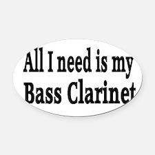 Unique Bass clarinet Oval Car Magnet