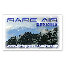Rare Air Designs Logo - Rectangle Decal
